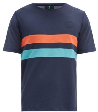 Iffley Road Cambrian Striped Technical-pique T-shirt - Navy Multi