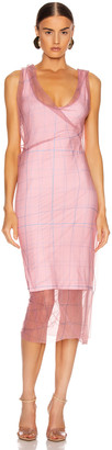 Y/Project Condom Print Tank Dress in Pink | FWRD