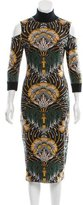 Suno Cutout Intarsia Dress