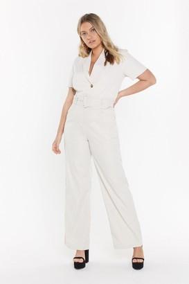 Nasty Gal Womens Heart-belt Promises Wide-Leg Trousers - Cream - 22