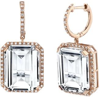 Shay 18k Rose Gold Portrait Gemstone Earrings