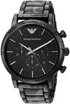 Emporio Armani Men's Quartz Stainless Steel Dress Watch, Color:Black (Model: AR11045)