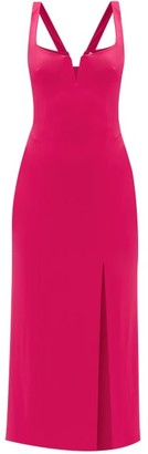 Galvan Structured-bodice Jersey Dress - Pink