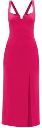 Galvan Structured-bodice Jersey Dress - Womens - Pink