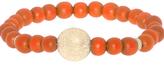 Orange Pave Disc Friendship Beads