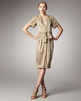 Donna Karan Tie-Waist Shirtdress