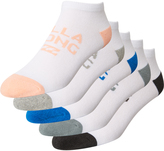 Billabong Womens Island 5 Pack Of Socks White