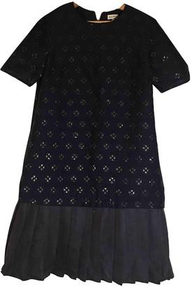 Suno Navy Cotton Dresses