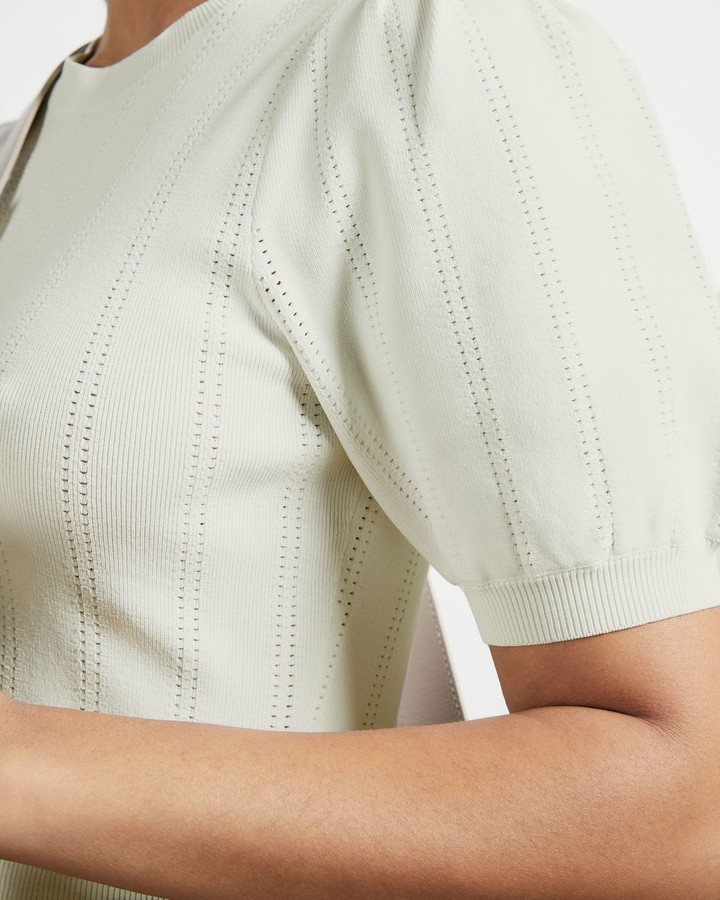Thumbnail for your product : Ted Baker Knit Top Pleated Dress