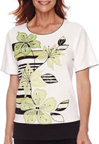 Alfred Dunner Sao Paolo Short-Sleeve Appliqu Top