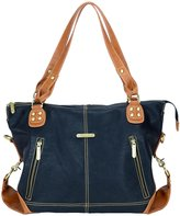 Timi & Leslie Kate Diaper Bag Set - Black/Saddle