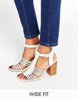 Asos TELESCOPE Wide Fit Heeled Sandals