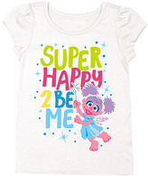 Freeze White Sesame Street 'Super Happy 2 Be Me' Tee - Toddler & Girls