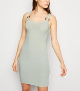 New Look Light Buckle Ribbed Bodycon Dress