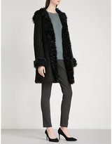 Theory Reversible hooded shearling coat