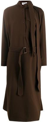 Kenzo Tie Neck Midi Dress