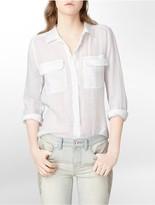 Calvin Klein Jeans Cotton Button-Front Shirt