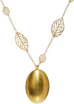 Sam Ubhi Locket Leaf Chain Necklace