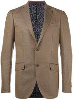 Etro zig zag pattern blazer - men - Silk/Linen/Flax/Wool - 48