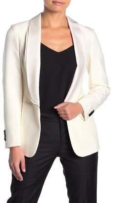 SUISTUDIO Cameron Shawl Collar Wool Blend Tuxedo Blazer