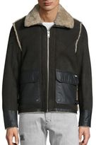 Diesel Shearling & Lambskin Leather Foot Jacket