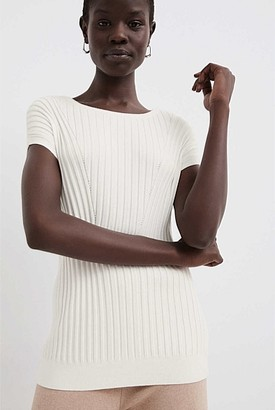 Witchery Extended Shoulder Ribbed Knit