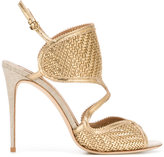 Salvatore Ferragamo woven sandals - women - Leather - 6