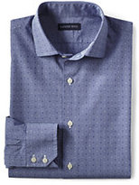 Classic Men's Tall Traditional Fit Dobby Check Dress Shirt-Blue Multi Dobby