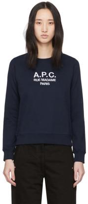 A.P.C. Navy Tina Sweatshirt