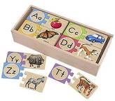Melissa & Doug ; Self-Correcting Alphabet Wooden Puzzles With Storage Box...