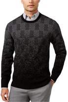 Alfani Mens Textured Long Sleeves Pullover Sweater Black XL