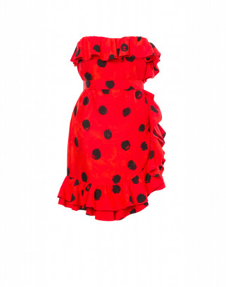 Moschino Cadi Dress With Ruffle Woman Red Size 40 It - (6 Us)