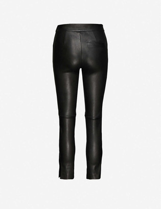Isabel Marant Mofirae slim-leg mid-rise leather trousers