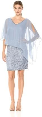 J Kara Women's Caplet Short Cocktail Beaded Dress