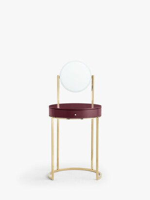 John Lewis & Partners Show Wood Dressing Table and Mirror, Plum