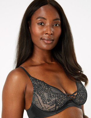 Marks and Spencer Satin & Lace Non Padded Plunge Bra A-E