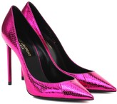 Saint Laurent Zoe 105 metallic snakeskin pumps
