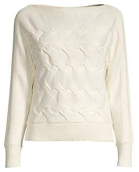 Donna Karan Women's Horizontal Cable-Knit Sweater