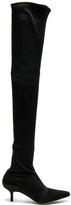 Altuzarra Elliot Low Heel Thigh High Boots in Black.