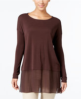 Eileen Fisher Silk Boat-Neck Tunic