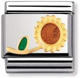 Nomination Stainless Steel, 18ct Gold and Enamel Sunflower Classic Charm 030214/26