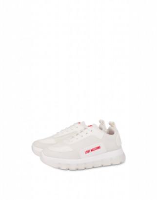 Love Moschino Mesh Sneakers Love Tassel Woman White Size 35 It - (5 Us)