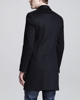 DSquared DSquared2 Shawl-Collar Tokyo Coat with Fur Collar