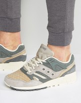 Saucony Grid Sd Quilted Packtrainers In Charcoal S70308-1