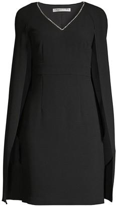Trina Turk Eastern Luxe Crepe Cape Dress