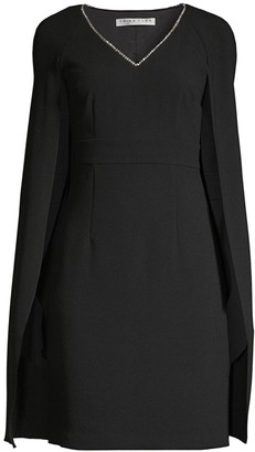 Trina Turk Eastern Luxe Crepe Cape Dress