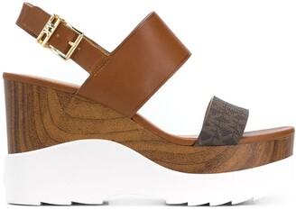 MICHAEL Michael Kors Rhett logo band wedge sandals