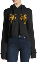 A.L.C. Valerie Hooded Palm-Embroidered Sweatshirt