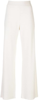 Barrie Wide-Leg Knit Trousers