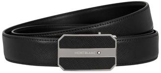Montblanc Leather Logo Buckle Belt